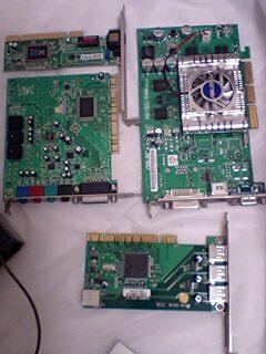 古いボード達(LAN/USB2.0/サウンド)